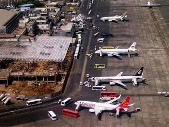 посадка в Мумбаи