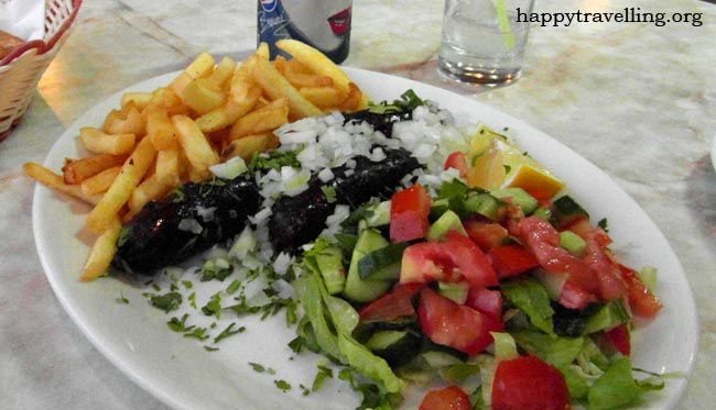 порция еды кипр