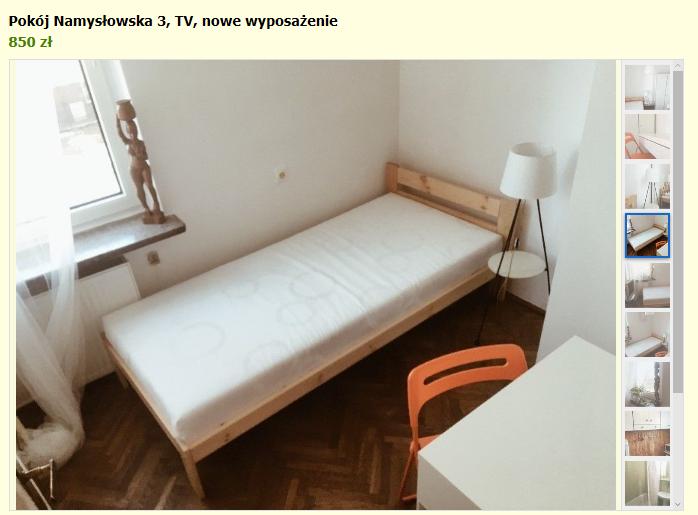комната в Варшаве аренда