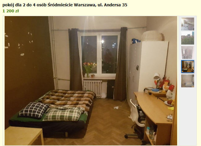 аренда комнаты в варшаве