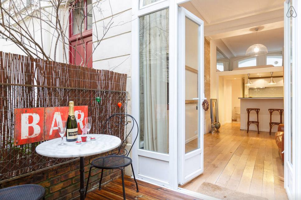 апартаменты с террасой Париж