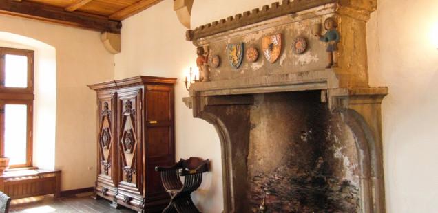 камин в замке вианден
