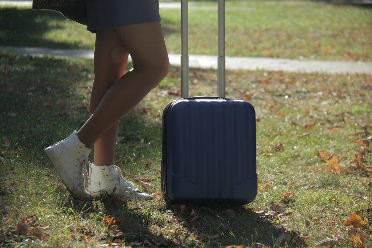 я с чемоданом