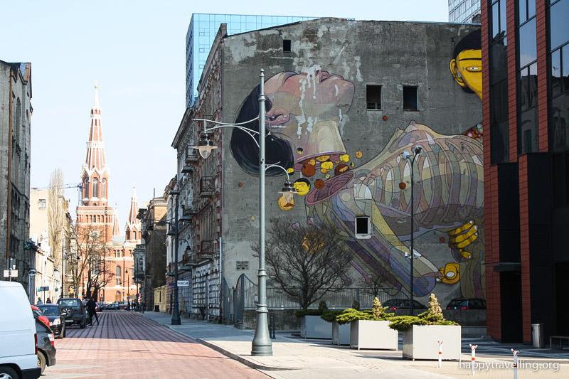 прогулка граффити