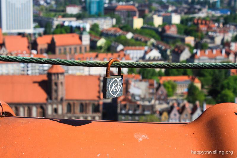 вид с крыши на город