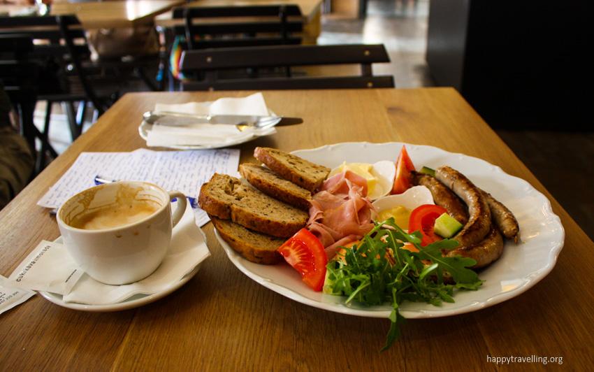 завтрак в Праге