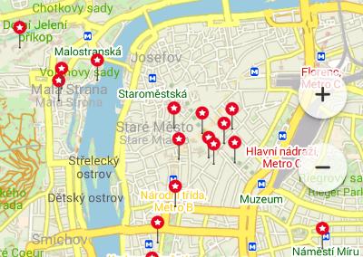 точки по Праге