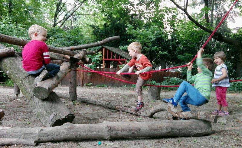 с детьми в Варшаве