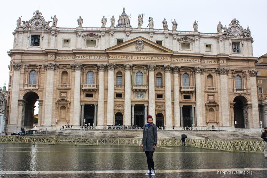 я на фоне Ватикана