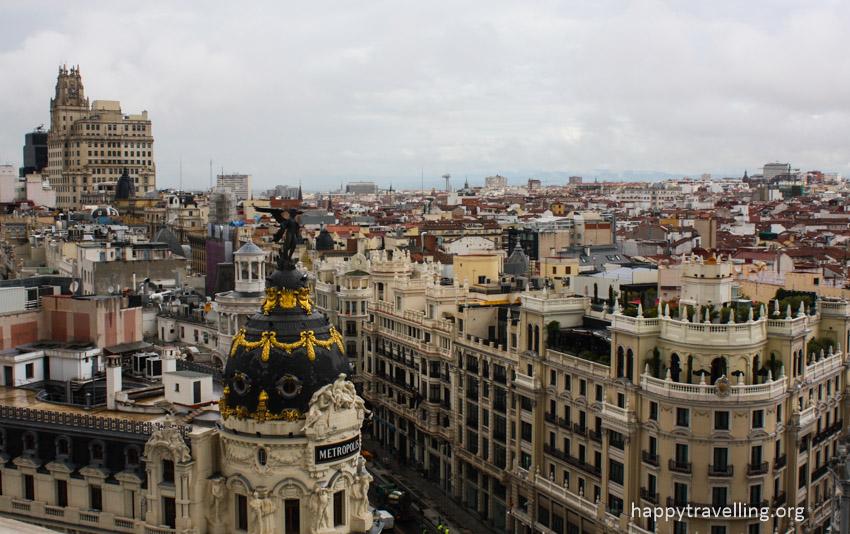 вид с высоты на Мадрид