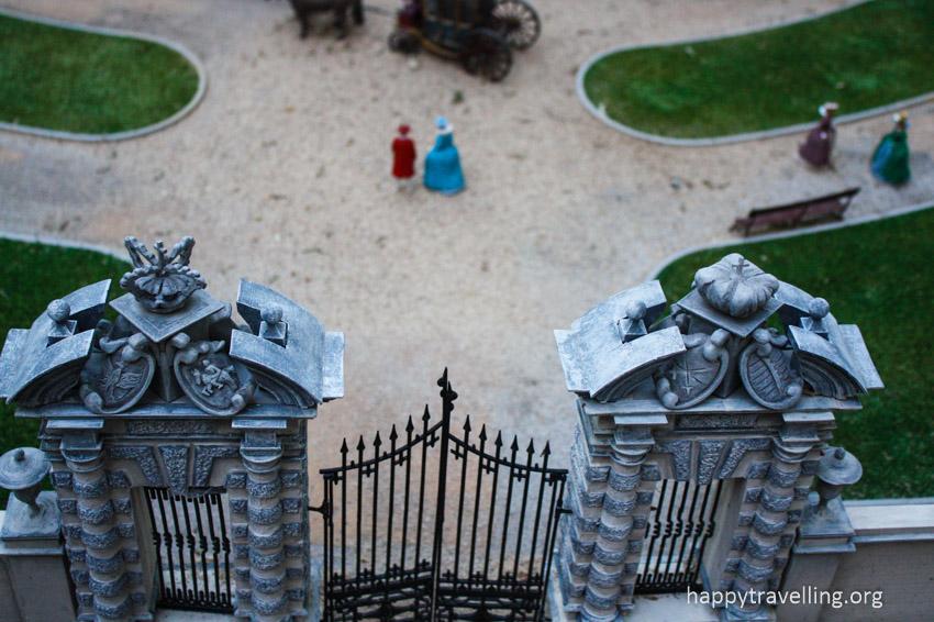 ворота в макете