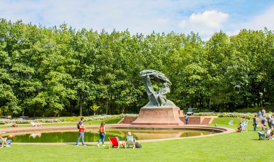 памятник Шопену в Лазенках