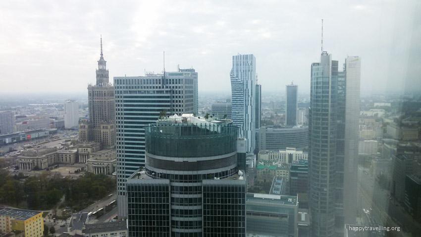 вид с небоскреба в Варшаве