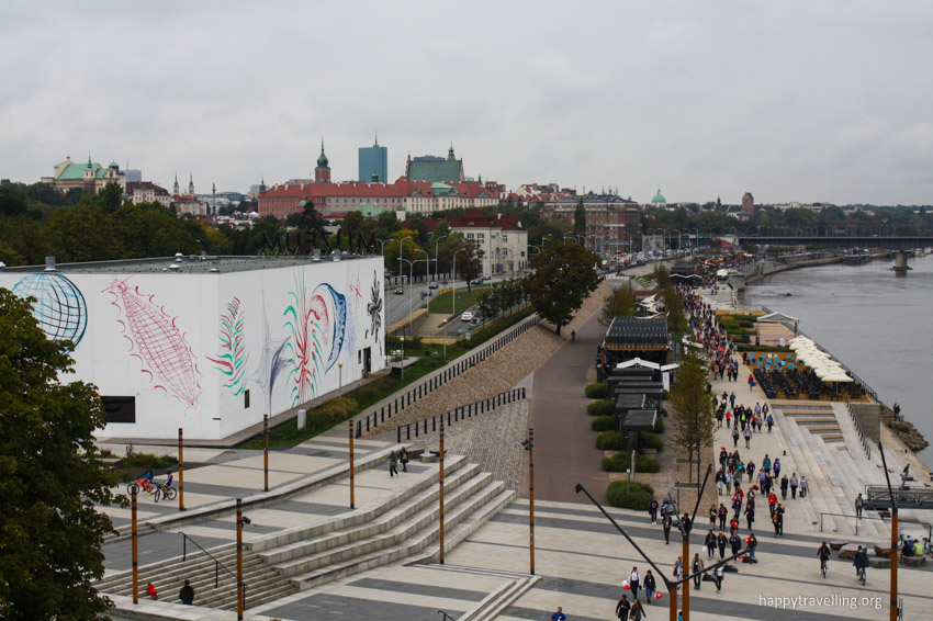 вид с высоты на Варшаву