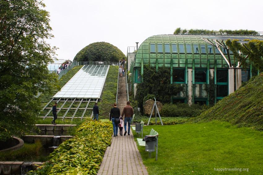 сад на крыше в Варшаве смотровая площадка