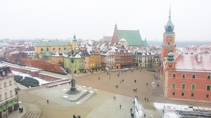 вид сверху на Варшаву