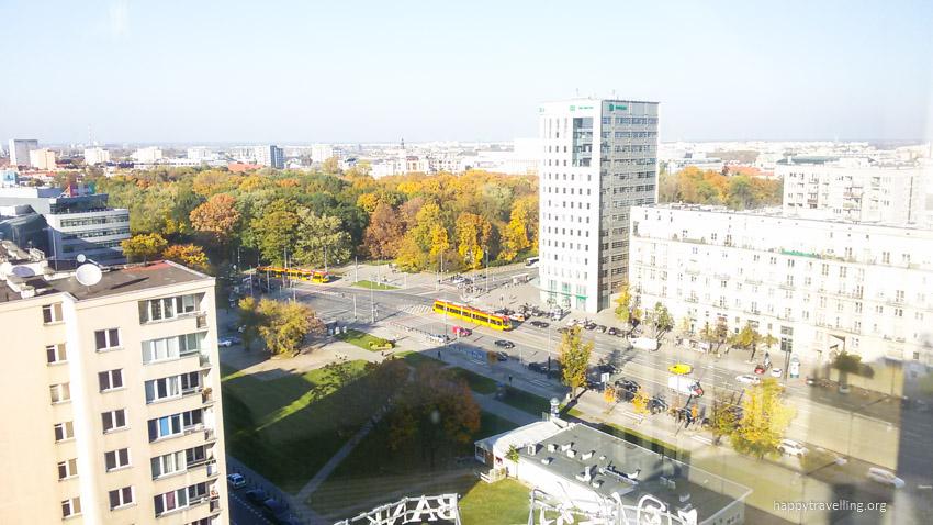 центр города вид с высоты