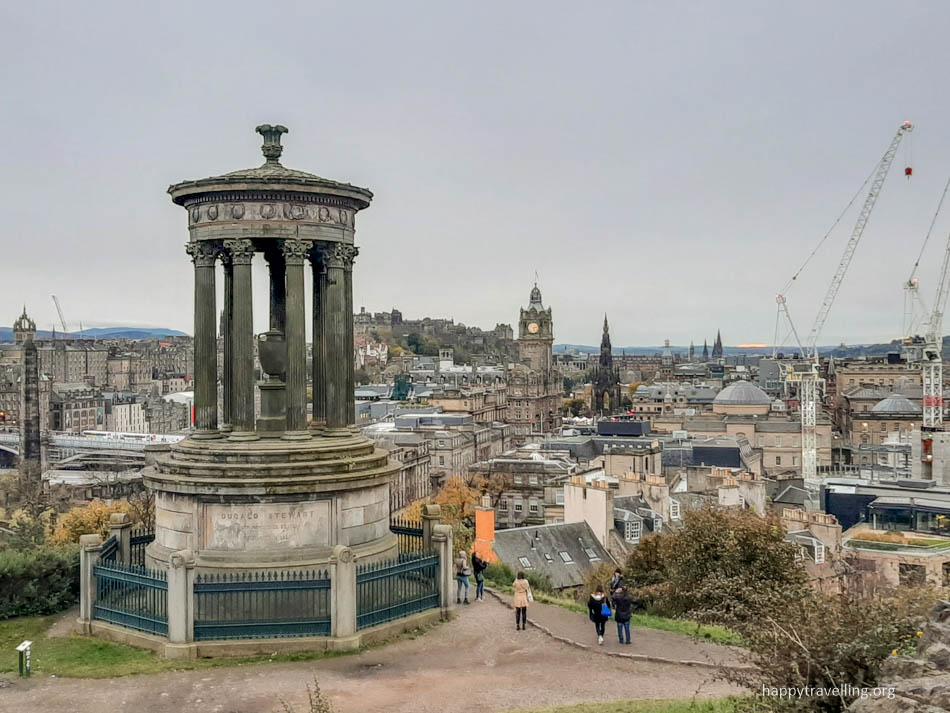 на вершине Эдинбурга