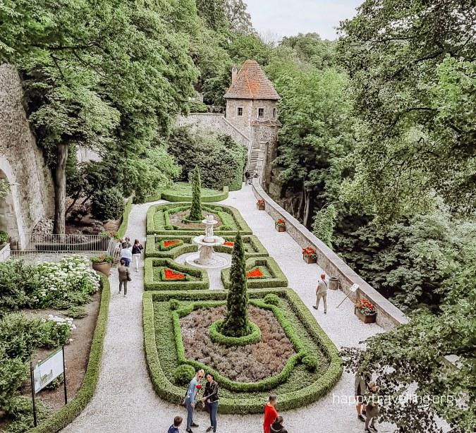 террасы замка Ксёнж под Вроцлавом